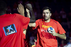 September 17, 2018 - Madrid, Spain - Pierre Oriola of Spain during the FIBA Basketball World Cup Qualifier match Spain against Latvia at Wizink Center in Madrid, Spain. September 17, 2018. (Credit Image: © Coolmedia/NurPhoto/ZUMA Press)