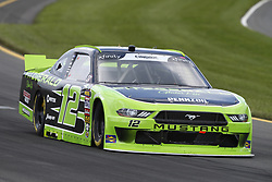 June 1, 2018 - Long Pond, Pennsylvania, United States of America - Austin Cindric (12) brings his car through the turns during practice for the Pocono Green 250 at Pocono Raceway in Long Pond, Pennsylvania. (Credit Image: © Chris Owens Asp Inc/ASP via ZUMA Wire)