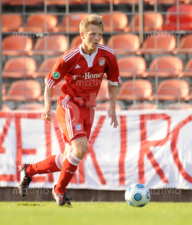 FUSSBALL     3. BUNDESLIGA     SAISON 2009/2010     28.07.2009 FC Bayern Muenchen 2 - SpVgg Unterhaching Bjoern Kopplin (FC Bayern II)