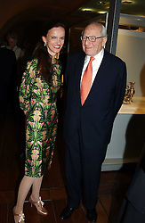 BETTINA VON HASE and SIR RONALD GRIERSON at the opening of 'Princely Splendour; The Dresden Court 1580-1620' a new temporary exhibition at The Gilbert Collection, Somerset House, London sposored by Hubert Bruda Media, The Schroder Family and WestLB AG on 8th June 2005.<br />