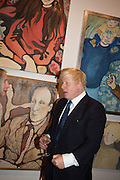 BORIS JOHNSON, Exhibition opening of paintings by Charlotte Johnson Wahl. Mall Galleries. London, 7 September 2015.