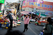 Seomun Market is the largest Korean traditional market in Daegu containing more than 4,000 shops and is particularly known as a source for textiles and sewing services, a key ingredient of Daegu's fashion industry. Daegu, also known as Taegu and officially the Daegu Metropolitan City, is the third largest metropolitan area in South Korea, and by city limits, the fourth largest city with over 2.5 million people. The IAAF World Championships in Athletics will take place in Daegu from the 27th of August till the 4th of September 2011.