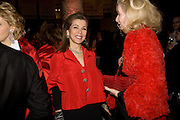 H.R.H. Princess Firyal and Lady Weidenfeld, Opening of Blood on Paper: the art of the Book. V & A. Museum. London. 14 April 2008. Afterwards there was a dinner hosted by Lady Foster.  *** Local Caption *** -DO NOT ARCHIVE-© Copyright Photograph by Dafydd Jones. 248 Clapham Rd. London SW9 0PZ. Tel 0207 820 0771. www.dafjones.com.