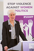 Moderator: Sue Inglish, WFD Governor & Former BBC Head of Political Programmes, Analysis and Research. Session 8: RECOMMENDATIONS TO PROTECT WOMEN'S RIGHT TO PARTICIPATE IN POLITICS FREE FROM VIOLENCE 'Violence Against Women in Politics' Conference, organised by all the UK political parties in partnership with the Westminster Foundation for Democracy, 19th and 20th of March 2018, central London, UK.  (Please credit any image use with: © Andy Aitchison / WFD