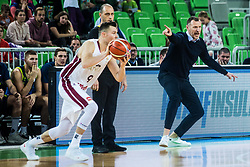 Radovan Trifunovic during basketball match between National teams of Slovenia and Latvia in Round #10 of FIBA Basketball World Cup 2019 European Qualifiers, on December 2, 2018 in Arena Stozice, Ljubljana, Slovenia. Photo by Grega Valancic