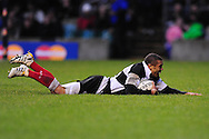 London - Saturday, December 5th 2009: Brian Habana of Barbarians scores his second try against New Zealand during the game at Twickenham, London. ..(Pic by Alex Broadway/Focus Images)