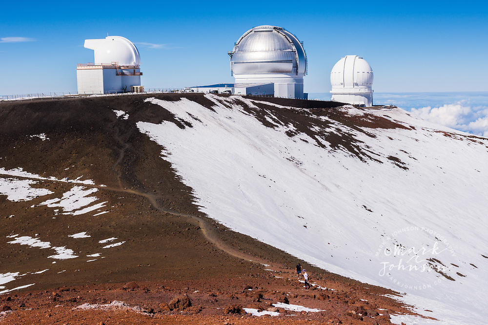 Astronomical Observatories atop Mauna Kea, Big Island (Hawaii Island), Hawaii