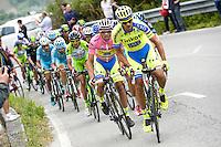 Roman Kreuziger / Alberto Contador - Tinkoff Saxo - 17.05.2015 - Tour d'Italie - Etape 09 : Benevento - San Giorgio del Sannio<br />Photo : Sirotti / Icon Sport