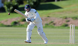 Glamorgan's Ben Wright - Photo mandatory by-line: Harry Trump/JMP - Mobile: 07966 386802 - 24/03/15 - SPORT - CRICKET - Pre Season Fixture - Day 2 - Somerset v Glamorgan - Taunton Vale Cricket Club, Somerset, England.