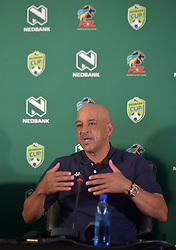 SOUTH AFRICA: JOHANNESBURG: Highlands Park head coach Owen Da Gama speak during the Nedbank cup press conference, Gauteng.<br />Picture: Itumeleng English/African News Agency(ANA)<br />23.01.2019