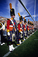 SOUTH BEND, IN - UNDATED: The marching band performs during a football game at the University of Notre Dame, in South Bend, Indiana.  (Photo by Ron Vesely)