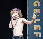 West End Live 2018 <br /> Trafalgar Square, London, Great Britain <br /> 16th June 2018 <br /> <br /> Excerpts from West End musicals perform live on stage in Trafalgar Square, London <br /> <br /> Bat Out Of Hell The Musical <br /> <br /> Photograph by Elliott Franks