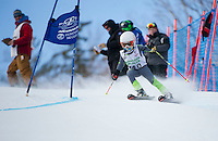 U10's at Gus Pitou memorial giant slalom with Gunstock Ski Club.  ©2016 Karen Bobotas Photographer