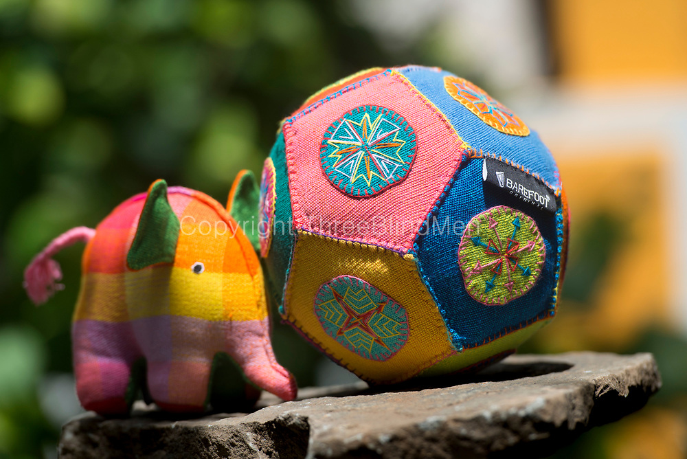 Barefoot soft toys. Aliya the Elpehant and a Patchwork Ball.