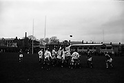 08/01/1965<br /> 01/08/1965<br /> 08 January 1965<br /> Irish Universities vs. Scottish Universities rugby game at Donnybrook Stadium, Dublin.