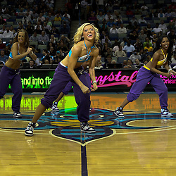 March 30, 2011; New Orleans, LA, USA; New Orleans Hornets Honeybees dancers perfrom during the third quarter of a game against the Portland Trail Blazers at the New Orleans Arena. The Hornets defeated the Trail Blazers 95-91.   Mandatory Credit: Derick E. Hingle