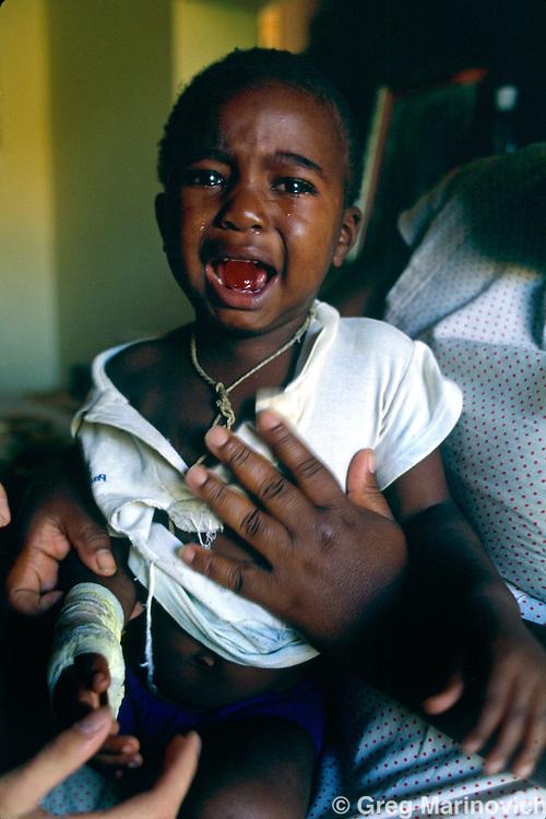 Internally displaced people, KwaMashu Township KwaZulu Natal, South Africa 1994.