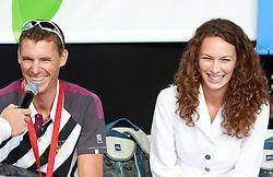 Vasilij Zbogar and his girlfriend Maja from Split at welcome ceremony in Olympic City BTC, on August 23, 2008, in Alea Mladih, BTC, Ljubljana, Slovenia. (Photo by Vid Ponikvar / Sportal Images)./ Sportida)