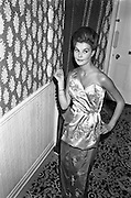 12/09/1962<br /> 09/12/1962<br /> 12 September 1962<br /> Fashion: Veronica Jaye Autumn/Winter collection 1962 fashion show at the Northbrook Hotel, Dublin. Royal blue chiffon cocktail dress worn by Olive.