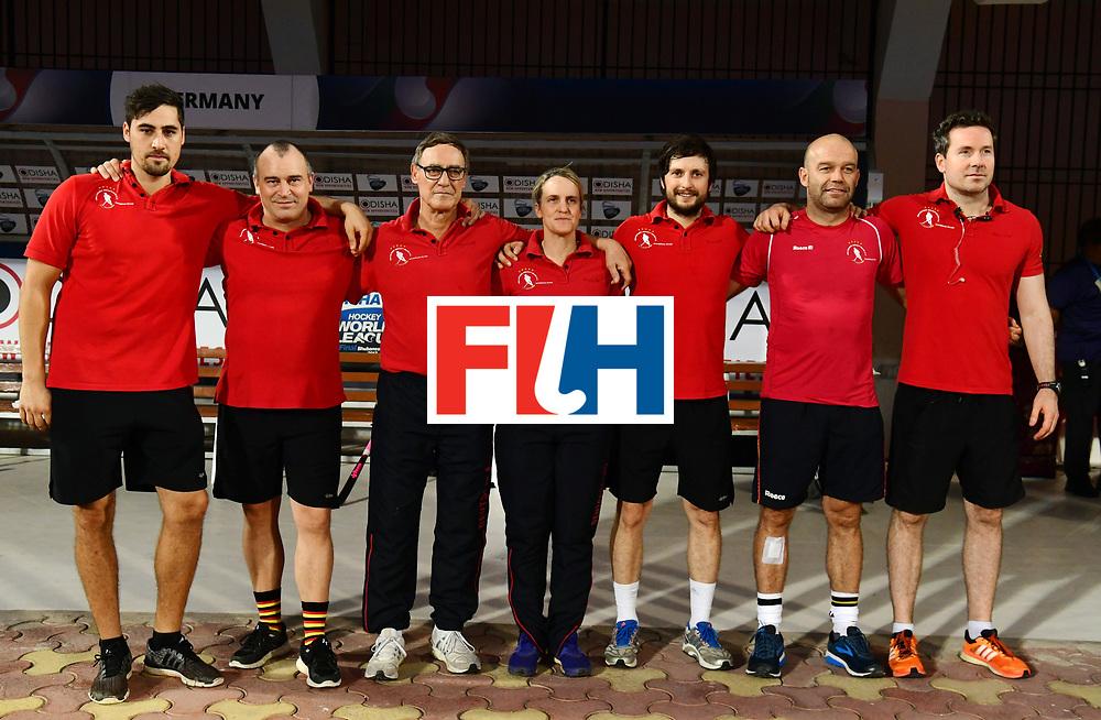 Odisha Men's Hockey World League Final Bhubaneswar 2017<br /> Match id:21<br /> India v Germany<br /> Foto: Line Up<br /> COPYRIGHT WORLDSPORTPICS FRANK UIJLENBROEK