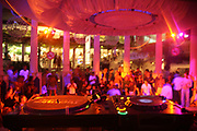 Behind the decks at Es Paradis, Ibiza, 2006