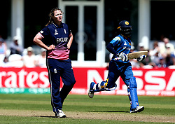 Anya Shrubsole of England Women looks frustrated - Mandatory by-line: Robbie Stephenson/JMP - 02/07/2017 - CRICKET - County Ground - Taunton, United Kingdom - England Women v Sri Lanka Women - ICC Women's World Cup Group Stage