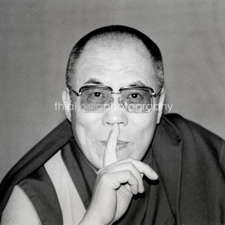 Unique portrait of the Dalai Lama