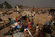 A general view shows a part of the temporary camp for internally displaced persons (IDPs) at the airport of the capital Bangui January 13, 2014.