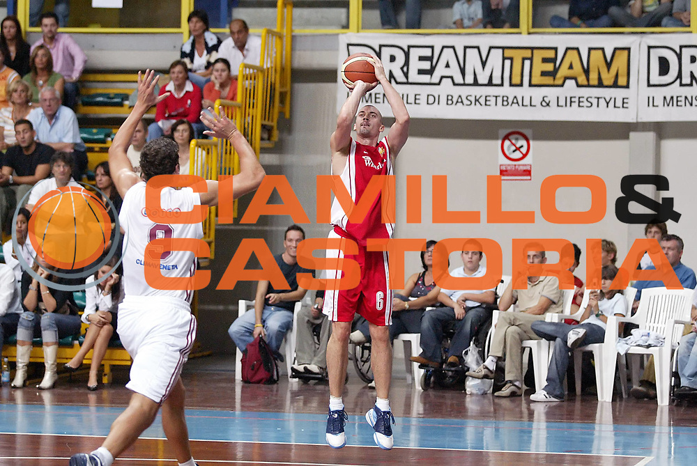 DESCRIZIONE : Busto Arsizion Precampionato Lega A1 2006-07 Trofeo Dream Team Whirlpool Varese Lottomatica Roma<br /> GIOCATORE : Hafnar <br /> SQUADRA : Whirlpool Varese<br /> EVENTO : Precampionato Lega A1 2006-2007 Trofeo Dream Team <br /> GARA : Whirlpool Varese Lottomatica Roma<br /> DATA : 23/09/2006 <br /> CATEGORIA : Tiro <br /> SPORT : Pallacanestro <br /> AUTORE : Agenzia Ciamillo-Castoria/G.Cottini <br /> Galleria : Lega Basket A1 2006-2007 <br /> Fotonotizia : Busto Arsizio Precampionato Lega A1 2006-07 Trofeo Dream Team Whirlpool Varese Lottomatica Roma<br /> Predefinita :