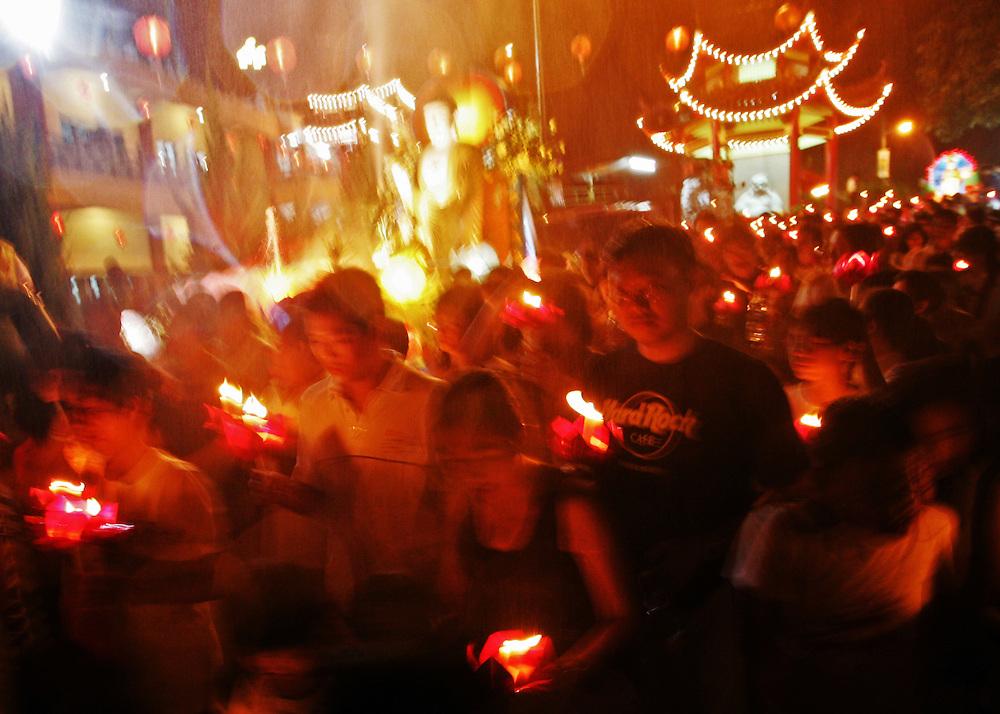 Wesak Day celebration, Kajang near Kuala Lumpur, Malaysia.