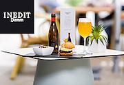 14 de maig de 2015- 3 tapes del Hotel Ciutat de Girona servides amb cervesa Estrella Inedit. <br /> Client: Estrella Damm.<br /> Fotografies: Toni Vilches Fotografia.