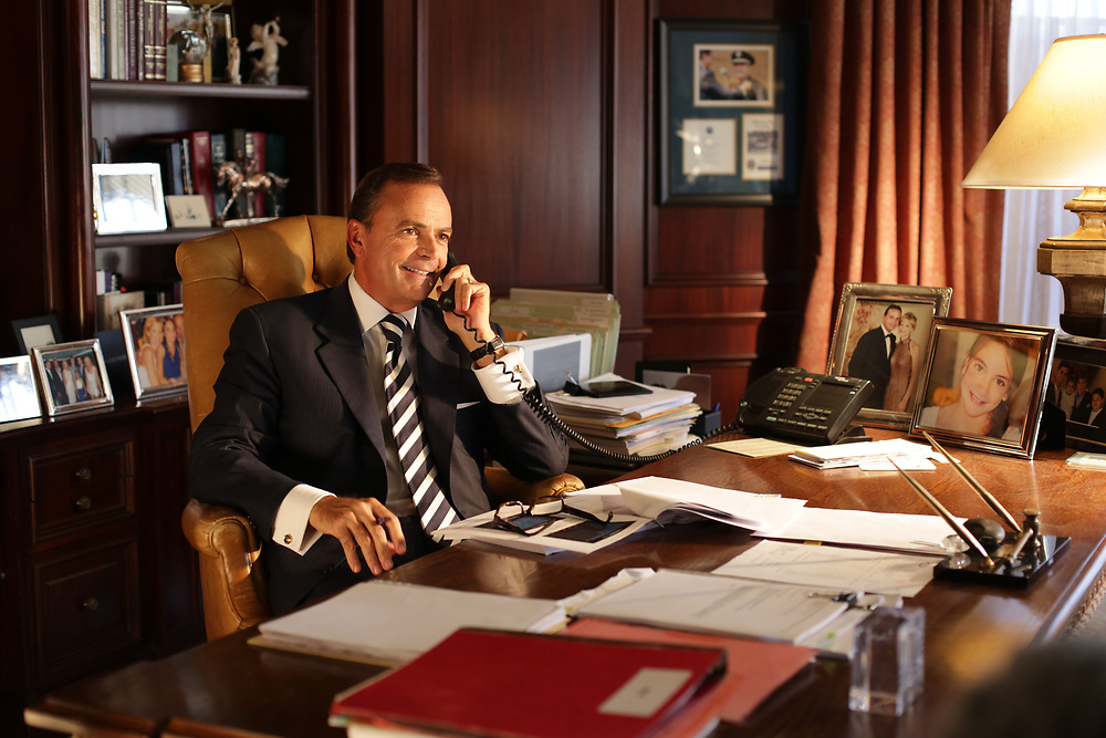 Rick Caruso in office photographed by Xander Photography.