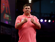 Keegan Brown during the World Matchplay Darts 2019 at Winter Gardens, Blackpool, United Kingdom on 24 July 2019.