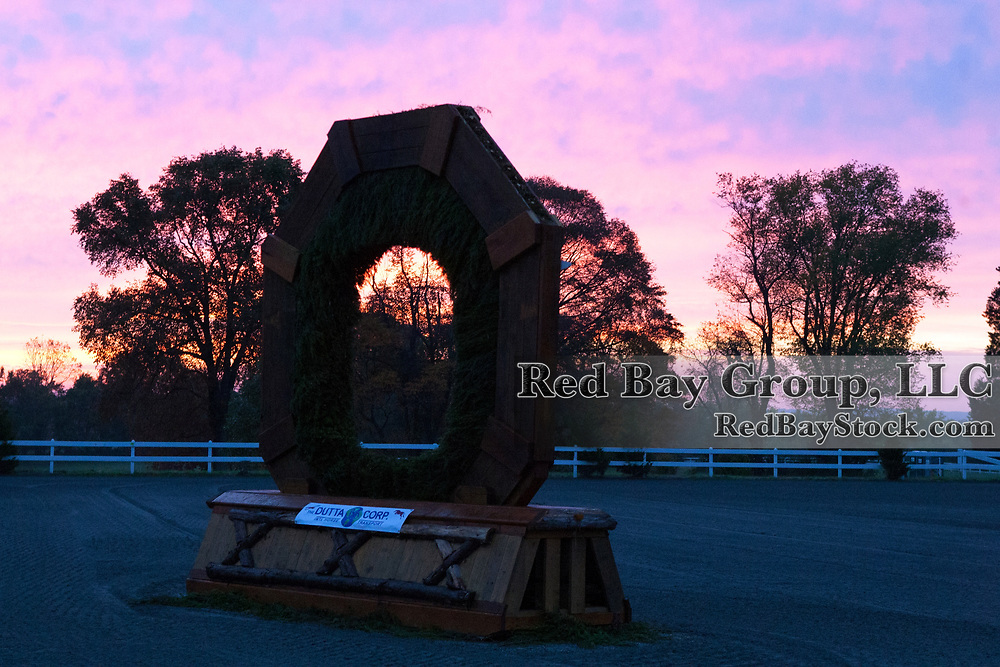 Dawn on the cross-country course at The Dutta Corp Fair Hill International in Fair Hill, Maryland.