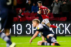 Callum O'Dowda of Bristol City celebrates scoring a goal to make it 1-2 - Rogan/JMP - 10/12/2019 - Ashton Gate Stadium - Bristol, England - Bristol City v Milwall FC - Sky Bet Championship.