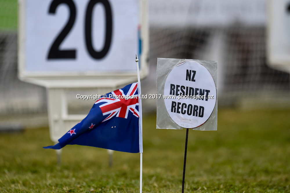 The broken record during The Mike Greer Homes Big Shot and Fast K, Christchurch, New Zealand, 19th Febuary 2017.Copyright photo: John Davidson / www.photosport.nz