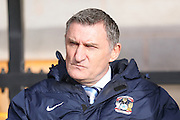 Coventry City Manager Tony Mowbray  during the Sky Bet League 1 match between Port Vale and Coventry City at Vale Park, Burslem, England on 7 February 2016. Photo by Simon Davies.