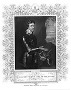 Thomas Wentworth, lst Earl of Strafford (1593-1641), English statesman and leading adviser to Charles I. Impeached by Parliament, the King failed to support him and he was found guilty and executed.  Engraving