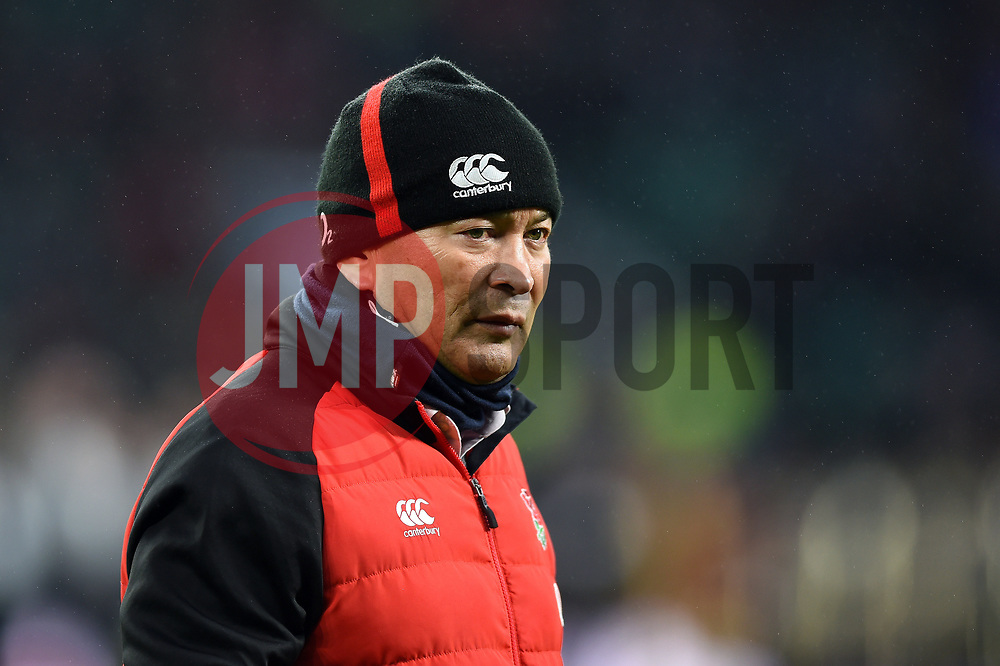 England Rugby Head Coach Eddie Jones - Mandatory byline: Patrick Khachfe/JMP - 07966 386802 - 10/02/2018 - RUGBY UNION - Twickenham Stadium - London, England - England v Wales - Natwest Six Nations