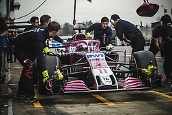 March 1, 2018 - Barcelona, Catalonia, Spain - SERGIO PEREZ (MEX) in his Force India VJM11 at the pit stop at day four of Formula One testing at Circuit de Catalunya. (Credit Image: © Matthias Oesterle via ZUMA Wire)