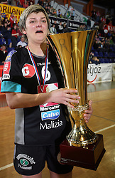 Olena Yatsenko of Krim at handball game ZRK Celje Celjske Mesnine vs RK Krim Mercator in final match of Slovenian Handball Cup,  on April 6, 2008 in Arena Golovec, Celje, Slovenia. Krim won the game 31:21 and became Cup Winner.  (Photo by Vid Ponikvar / Sportal Images)