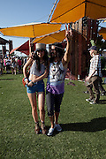 Fans at the 2010 Coachella Music Festival in Indio, CA on Friday, April 16, 2010.