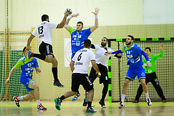 Players during Handball friendly match between Slovenia and Iran, on January 4, 2018 in Dol pri Hrastniku, Dol pri Hrastniku, Slovenia. Photo by Ziga Zupan / Sportida