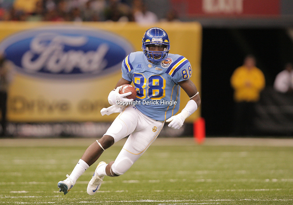 2008 November, 29: Southern University wide receiver Juamorris Stewart (88) runs after a catch during a 29-14 win by Grambling State over Southern University during the 35th annual State Farm Bayou Classic at the Louisiana Superdome in New Orleans, LA.  .