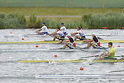 Eton Dorney, Windsor, Great Britain,..2012 London Olympic Regatta, Dorney Lake. Eton Rowing Centre, Berkshire[ Rowing]...Description;  Heat, Men's double Sculls: .Luka SPIK (b) , Iztok COP (s).LTU.M2X Rolandas MASCINSKAS (b) , Saulius .GBR M2X Bill LUCAS (b) , Sam TOWNSEND (s).NOR.M2X Nils Jakob HOFF (b) , Kjetil BORCH (s).FRA.M2X Julien BAHAIN (b) , Cedric BERREST (s).CAN M2X Michael BRAITHWAITE (b) , Kevin KOWALYK (s)..Dorney Lake. 12:30:07  Tuesday  31/07/2012.  [Mandatory Credit: Peter Spurrier/Intersport Images].Dorney Lake, Eton, Great Britain...Venue, Rowing, 2012 London Olympic Regatta...