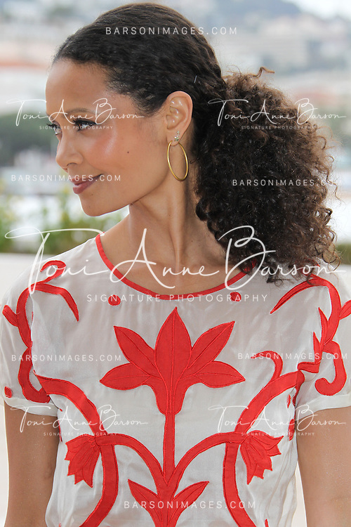 "CANNES, FRANCE - APRIL 08:  British actress Thandie Newton attends ""Rogue' Photocall on the Croisette during the 50th  MIPTV on April 8, 2013 in Cannes, France.  (Photo by Tony Barson/Getty Images)"