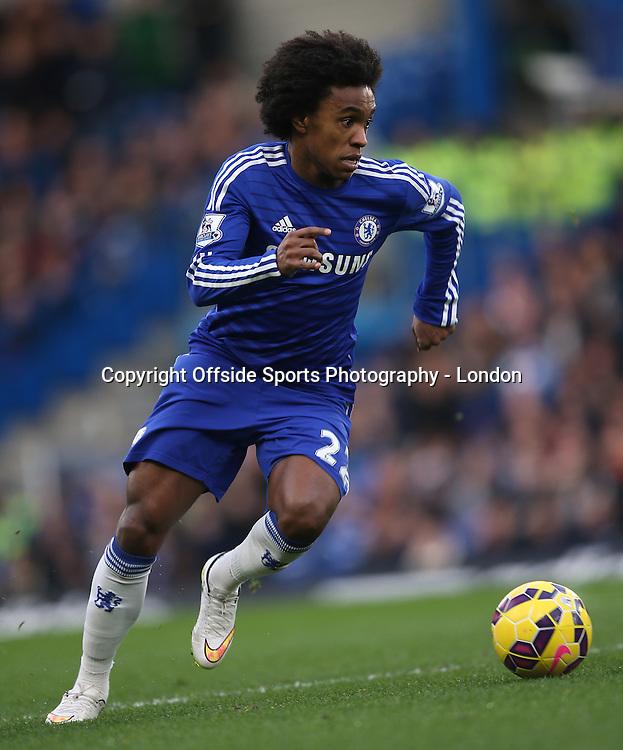 10 January 2015 Premier League Football - Chelsea v Nerwcastle United ;  Willian in action for Chelsea.<br /> Photo: Mark Leech