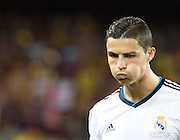 Cristiano Ronaldo takes a mouth full of water before kick off.  Barcelona v Real Madrid, Supercopa first leg, Camp Nou, Barcelona, 23rd August 2012...Credit - Eoin Mundow/Cleva Media