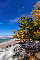 Photos shot of fall color, Lake Superior, stars and moon in the Pictured Rocks National Lakeshore and Hiawatha National Forest areas of Michigan's Upper Peninsula (UP) the first week of October 2014. (photo by Bryan Mitchell)