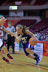 03 November 2009: Jennifer Coronelli drives in on Amanda Clifton during a game between Panthers of Kentucky Wesleyan and the Redbirds of Illinois State University on Doug Collins Court inside Redbird Arena in Normal Illinois.